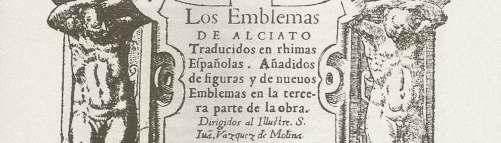 PORTADA DE LOS EMBLEMAS DE ALCIATO TRADUCIDOS EN RHIMAS ESPAÑOLAS