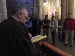 Junto a la capilla del Camarero Vago en San Pablo