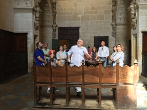 En la sacristía